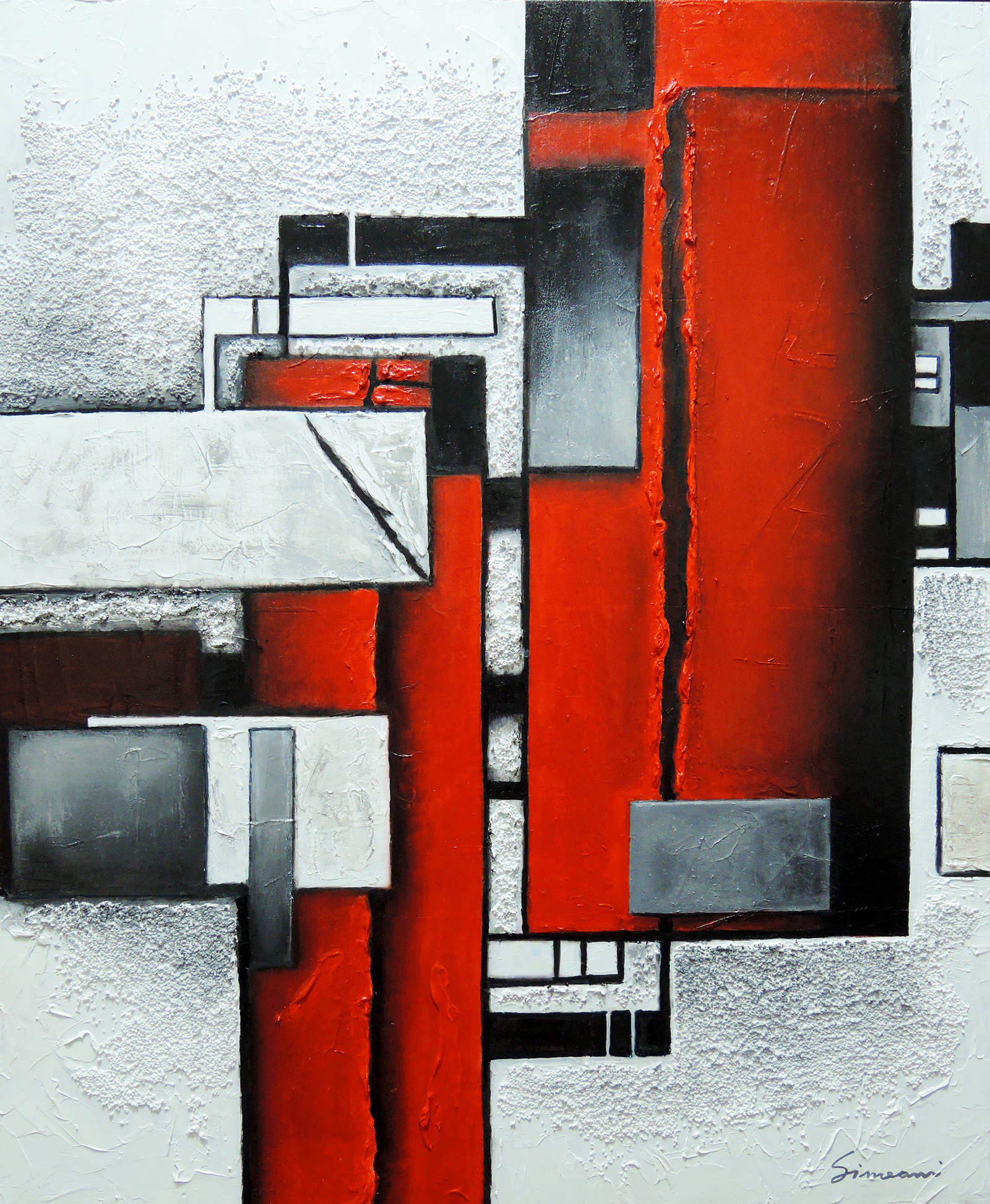Geometrie fluttuanti - mixed media on canvas - cm 60x50