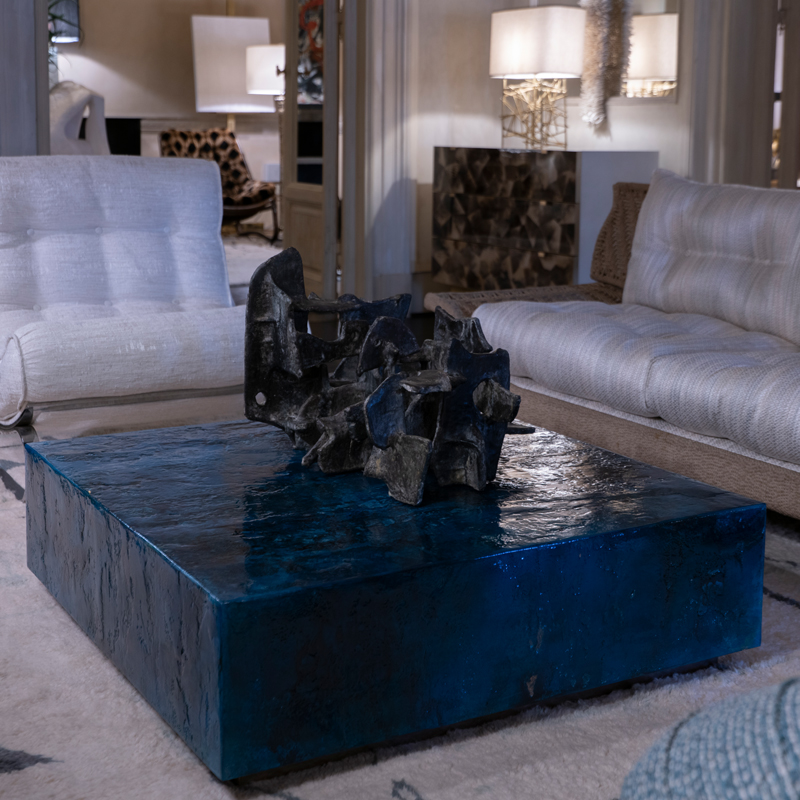 Zenoni for Flair | Blue Resin Coffee Table