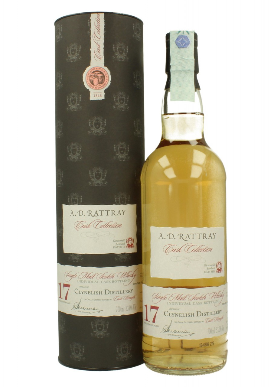 CLYNELISH 17YO 1997 2015  53% A.D RATTRAY