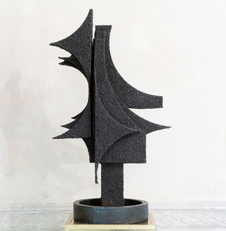 1970's Italian Abstract Steel Sculpture, signed A.Murri