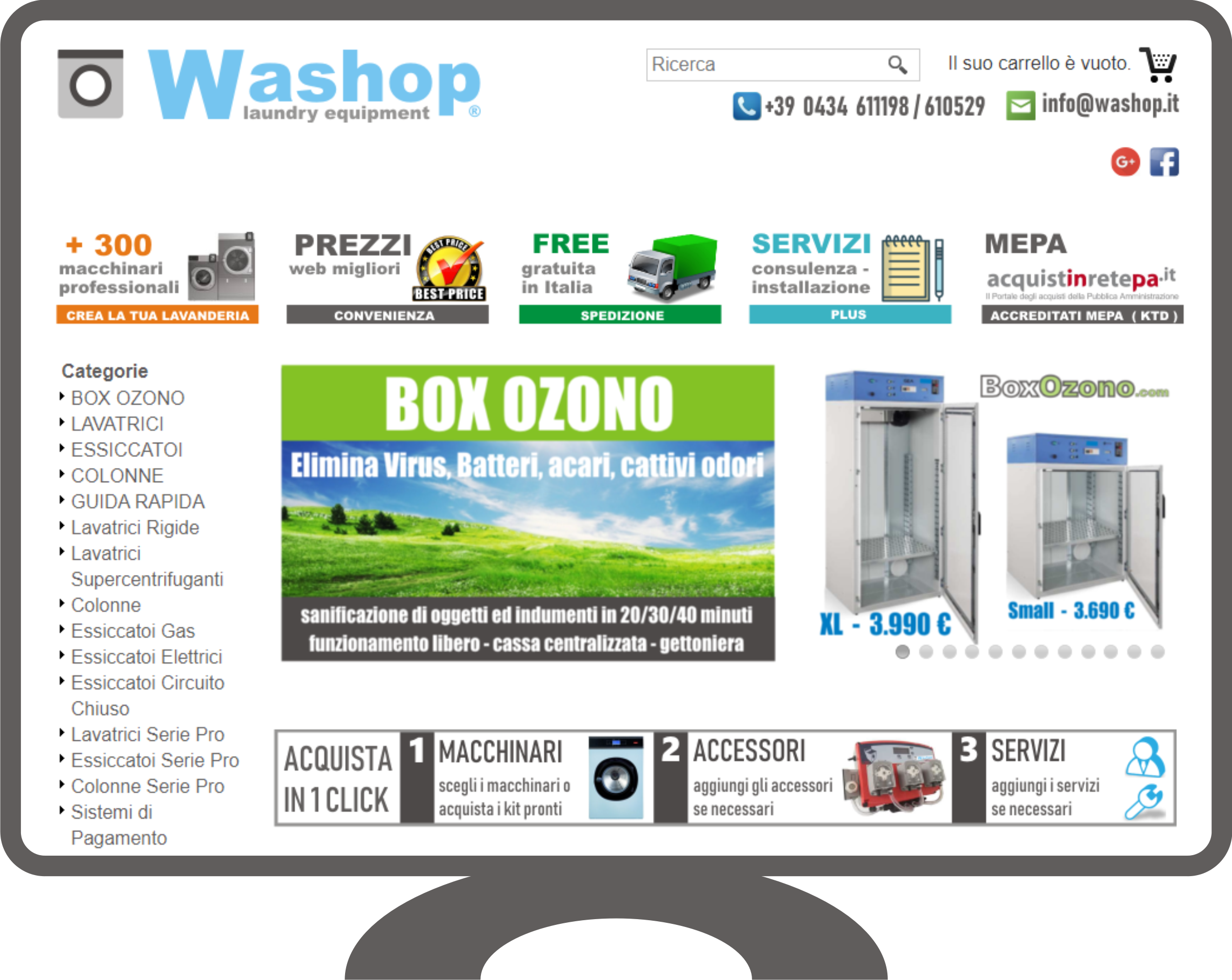 Acquista Box Ozono a prezzo conveniente
