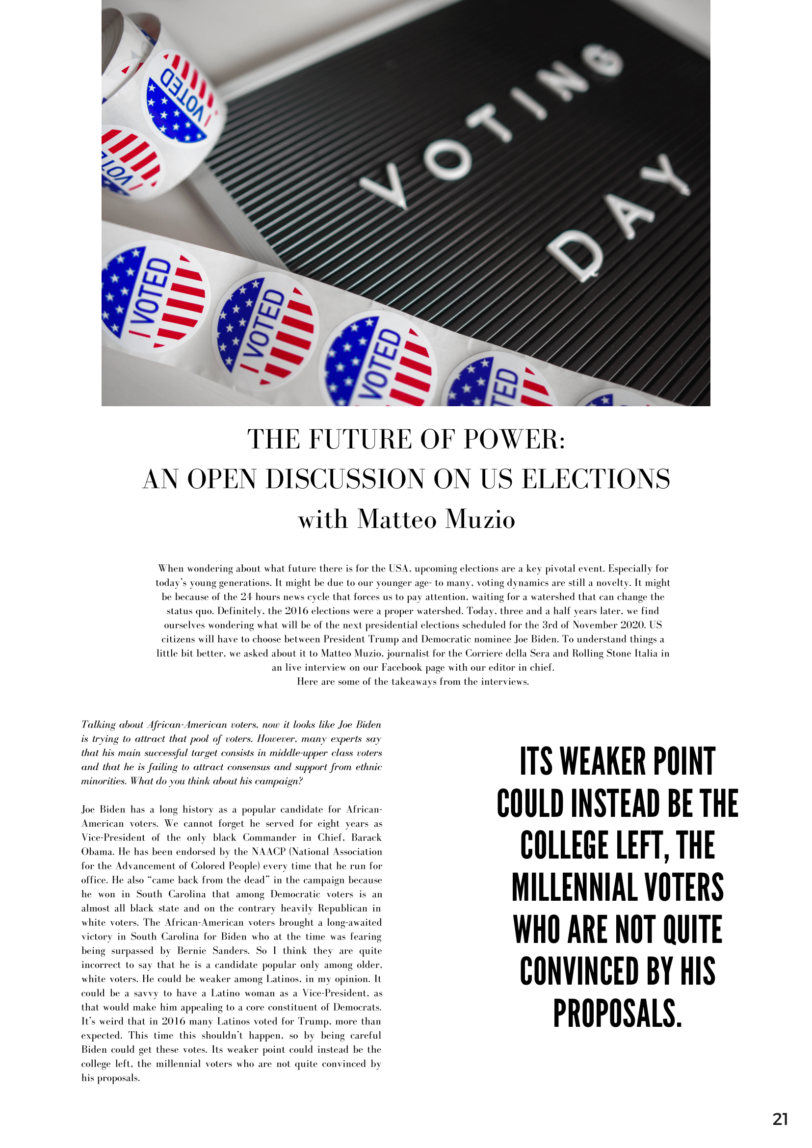THE FUTURE OF POWER AN OPEN DISCUSSION ON US ELECTIONS with Matteo Muzio-1png
