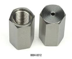 8004-0312  Column nut for Varian / Bruker, stainless steel, 1093 inlets, 2 pk;