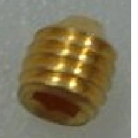 G1999-20022   Setscrew, M3 x 0.5, 3 mm long, gold-plated, for GC/MS, 1 pk