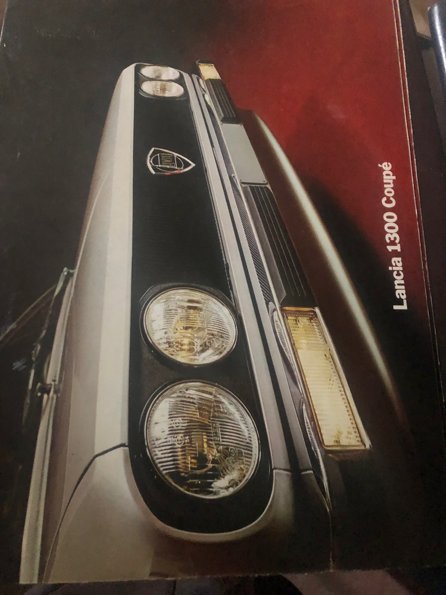 Brochure Lancia 1300 Coupè