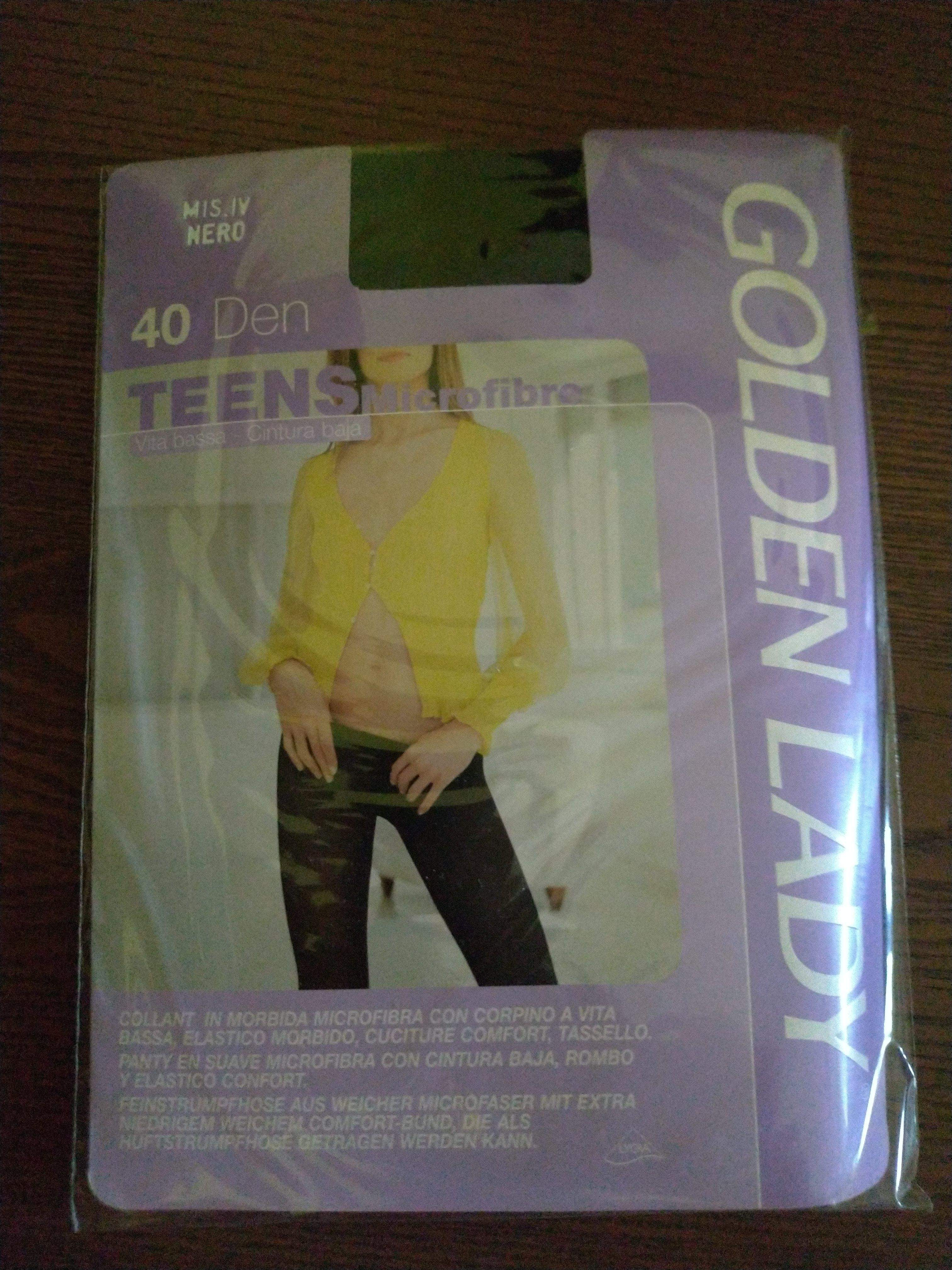 Collant GOLDEN LADY Teens 40 den colore NERO