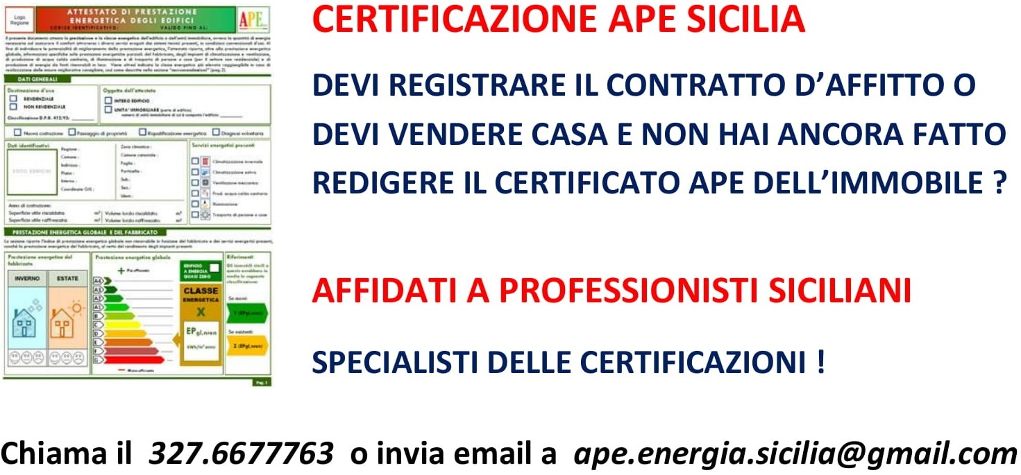 certificatori energetici ape messina