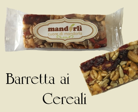 Barretta Mandorla e cereali - Almond bar and cereals