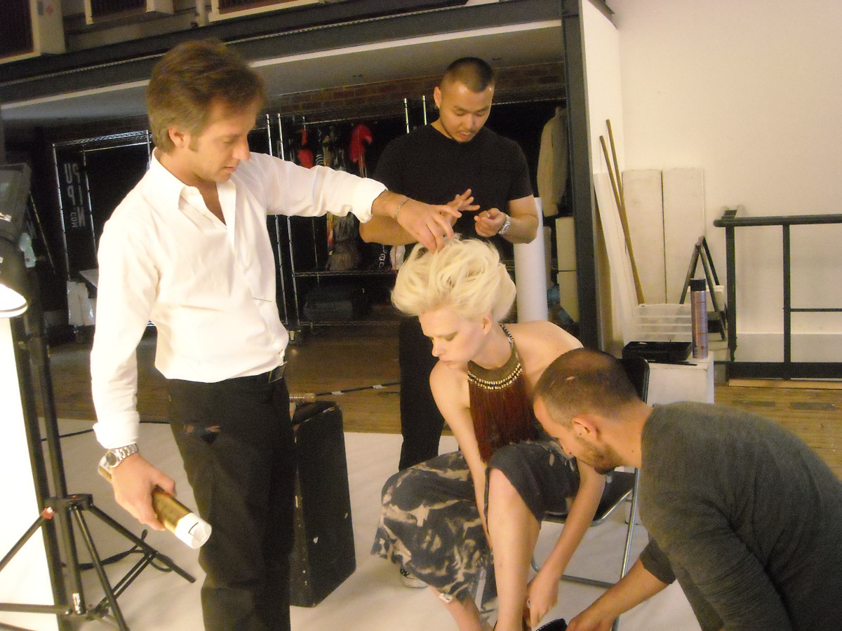 shooting hairstylist italy