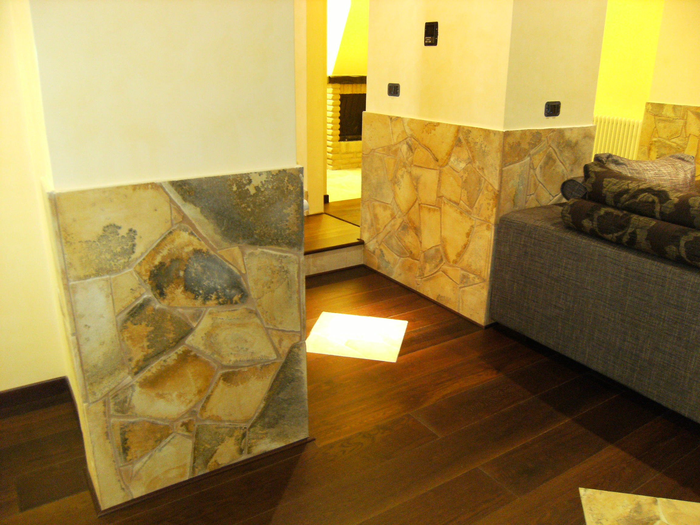 Stone cladding walls