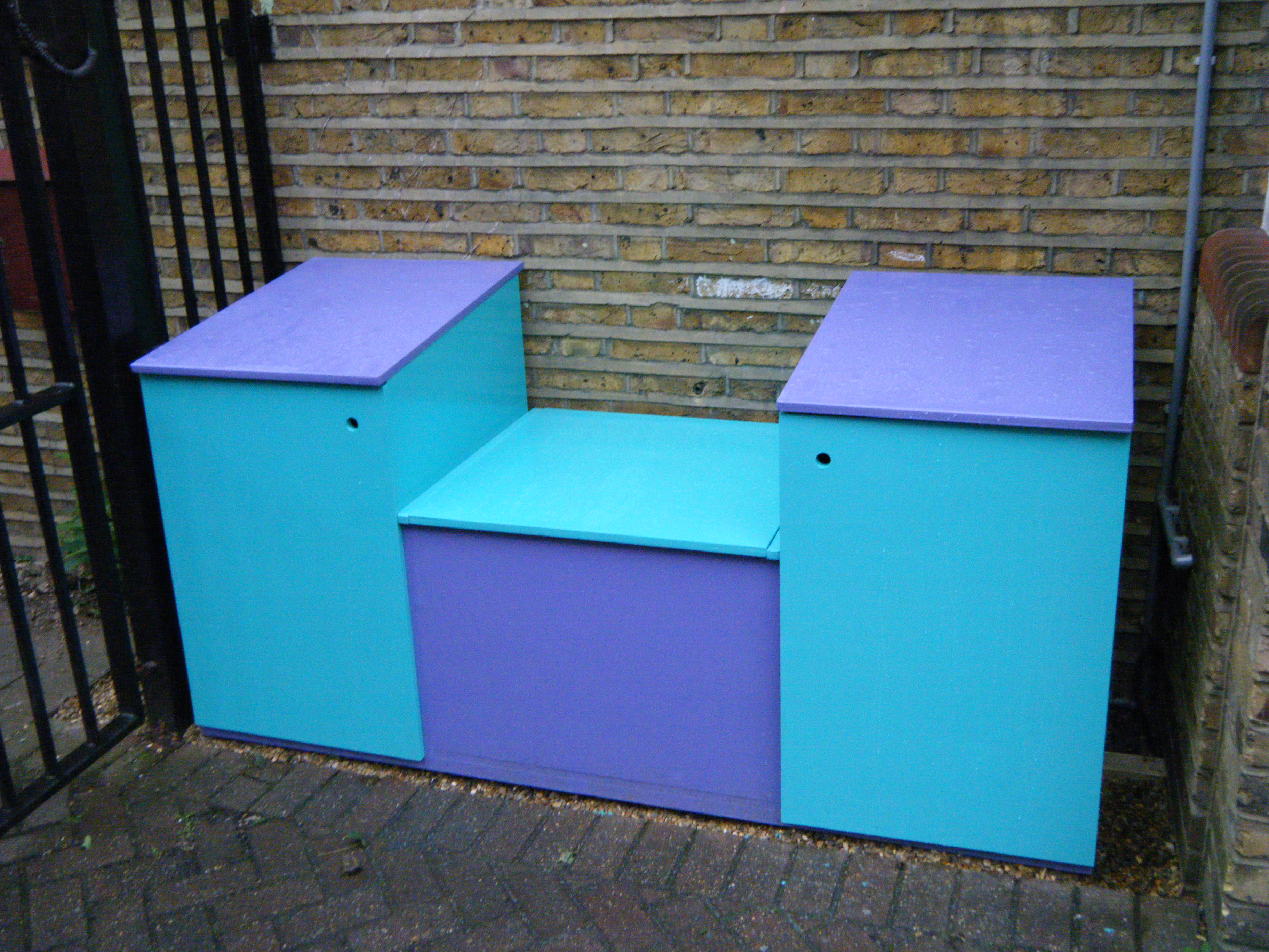 Bespoke Storage Seating and other playground elements.