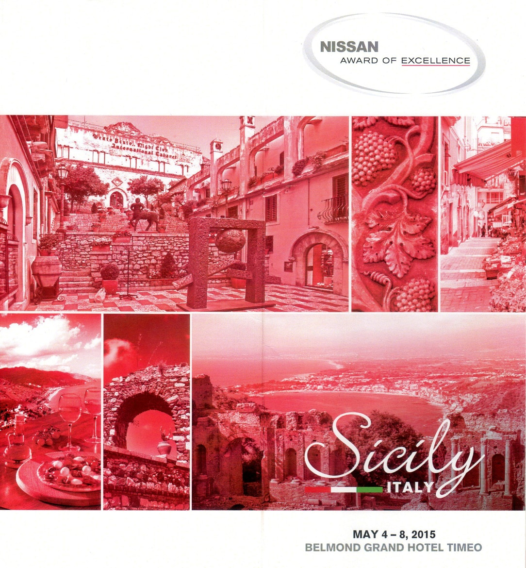 "Nissan Canada ""Award of Excellence 2015"" # Taormina 05.2015 per Azimut - Creating Emotions"