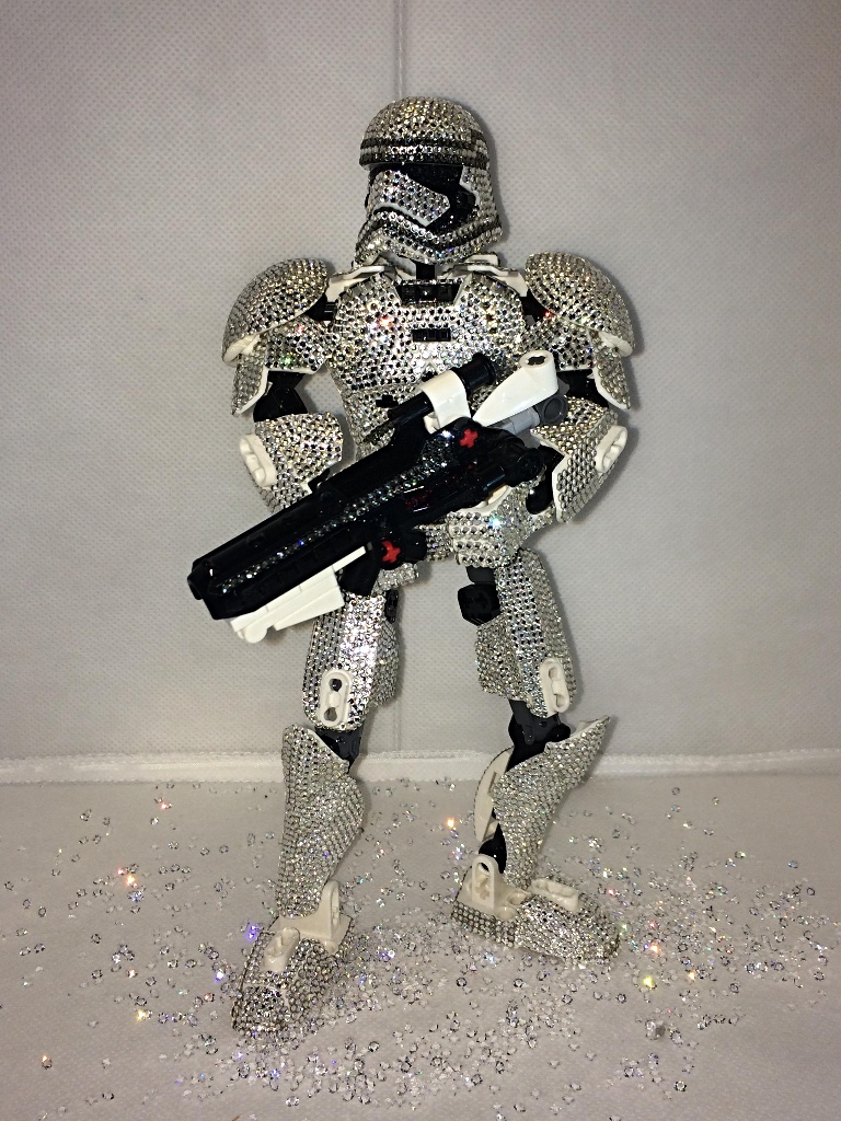 Soldato Star Wars customizzato Swarovski Crystal