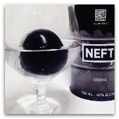 Spumarche - Mixologia - NEFT VODKA - gift box - black and white