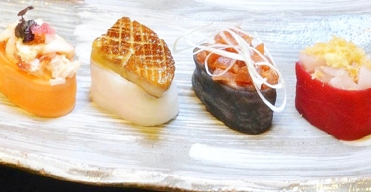spumarche -   Sushi gunkan o sushi nave da battaglia o bignè  di Pepi Anevski - Umami