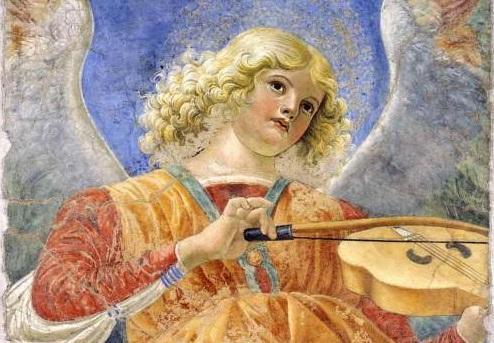 Explorer  - Spumarche - Melozzo da Forlì  brácsán játszó angyala - Vatikán, múzeum - képtár - Róma
