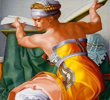 Explorer - Vatikáni Müzeumok -  A Sixtus-kápolna mennyezetfreskójának részlete - 15ö8 - 1512 - A líbiai szibilla - Michelamgelo