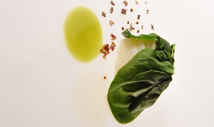 Spumarche - Crocevia di Sapori - L'Ermo colle – Baccalà, spinaci, quinoa e salsa thai - Ph.© Brambilla/Serrani