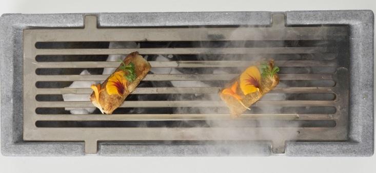 Spumarche - Crocevia di Sapori - Arkaitz Muguruza Hoyos - Europa Restaurante – Pamplona - piccione di Araiz con nuvola di Macadamia