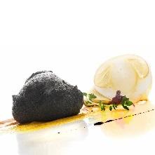 spumarche - gallery - taverna estia - francesco sposito - bignè al nero di seppia
