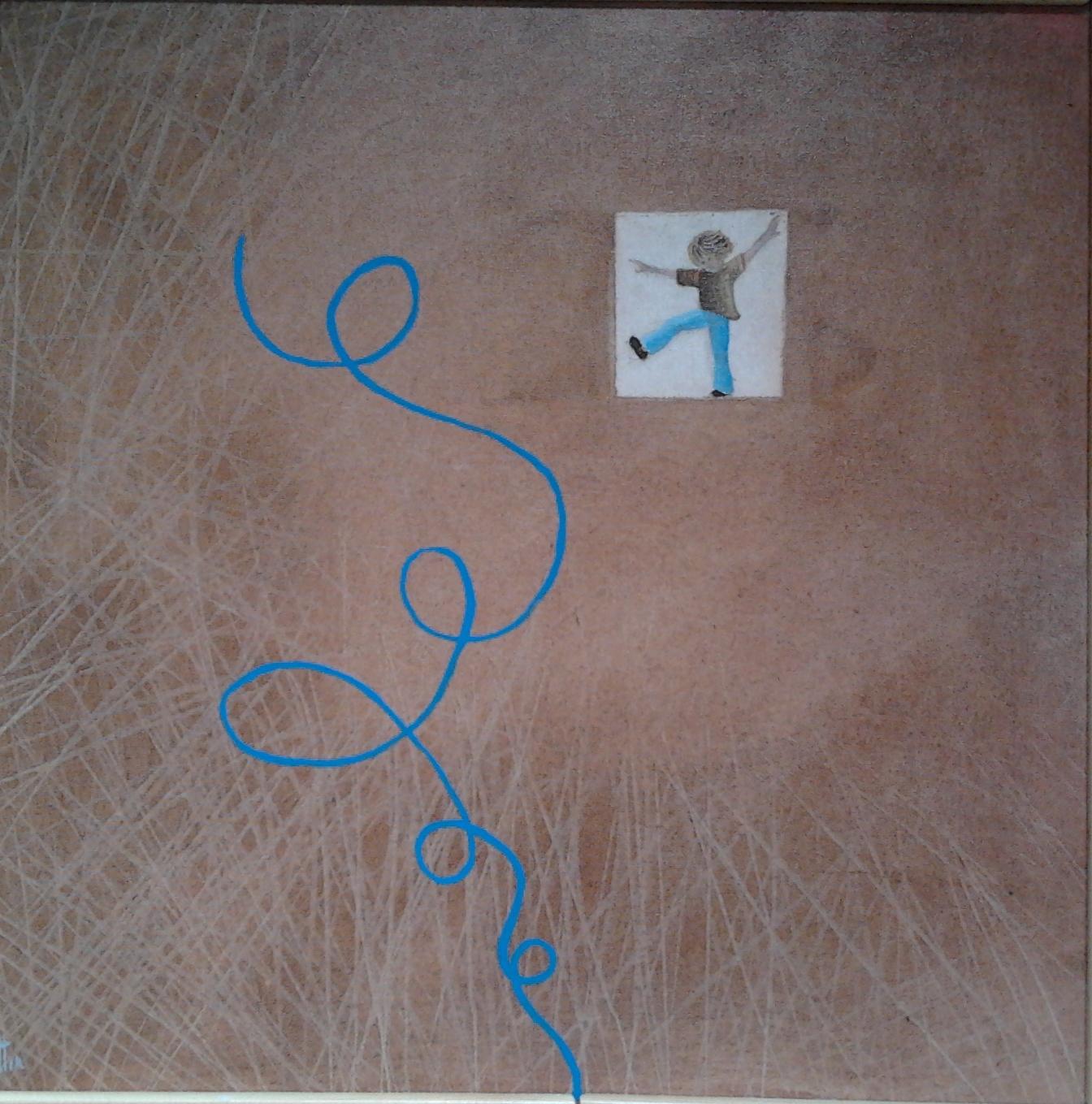 Sto arrivando! tecnica mista su tela 40x40 cm - 2012