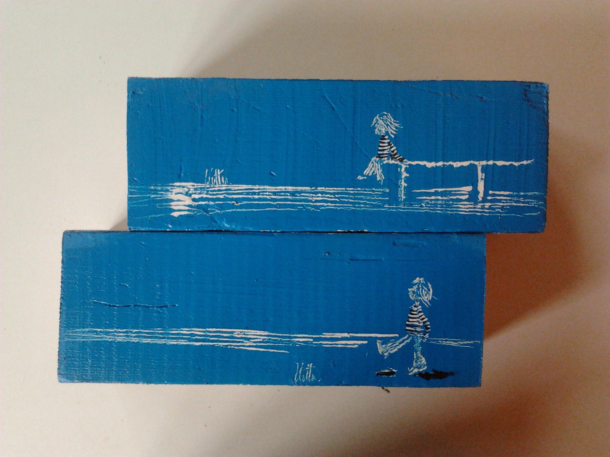 scultura blu- 1
