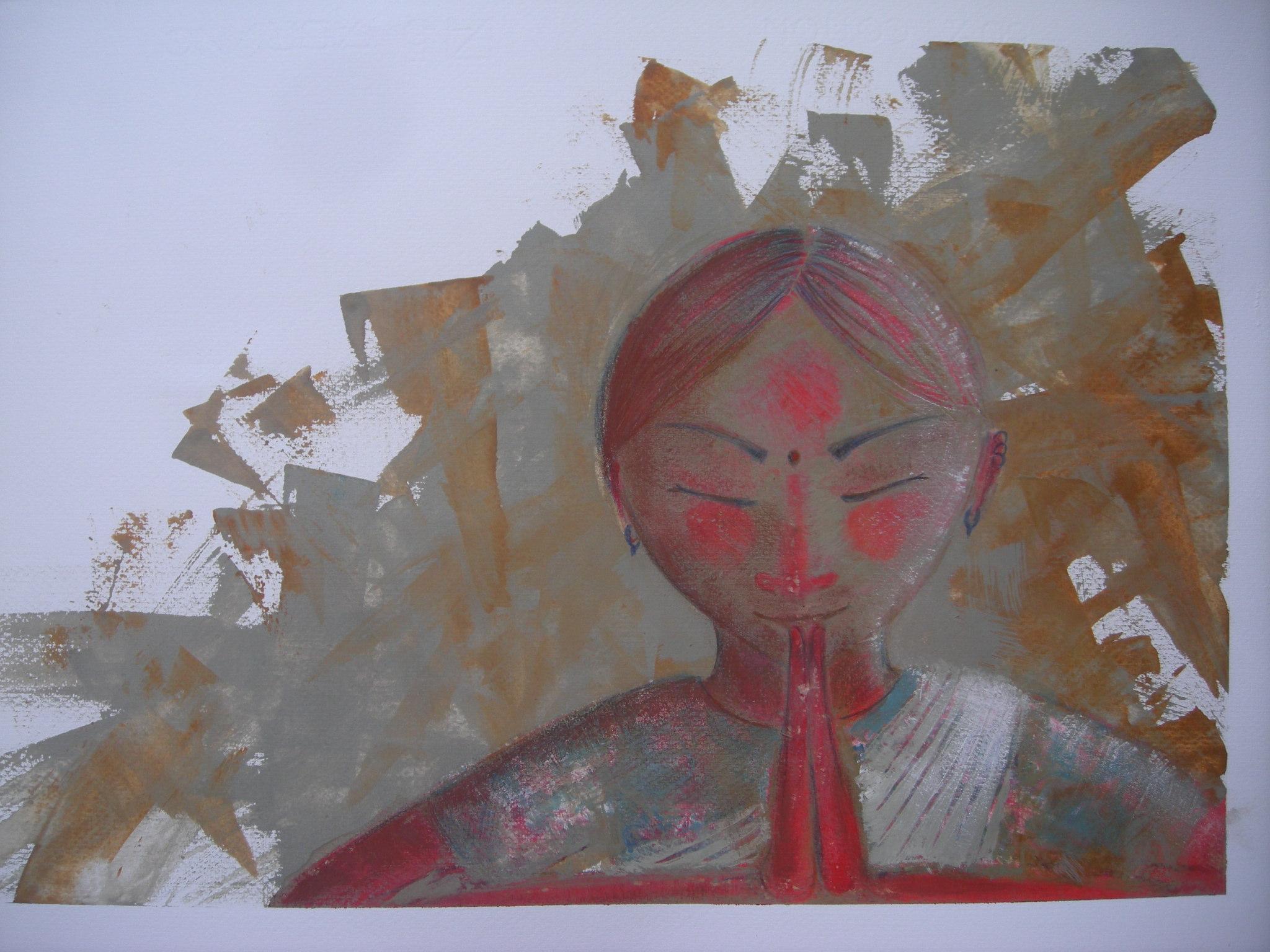 illustrazione, acquerelli e china, da La mia giornata all'asilo - 2011