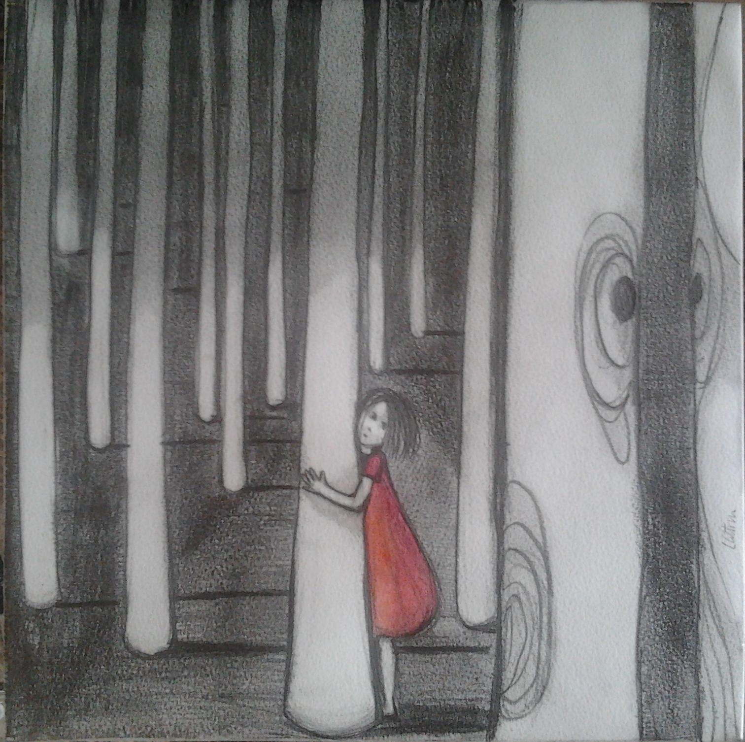I mondi di Alice 2 - tecnica mista su carta e tela - 30x30cm - 2013