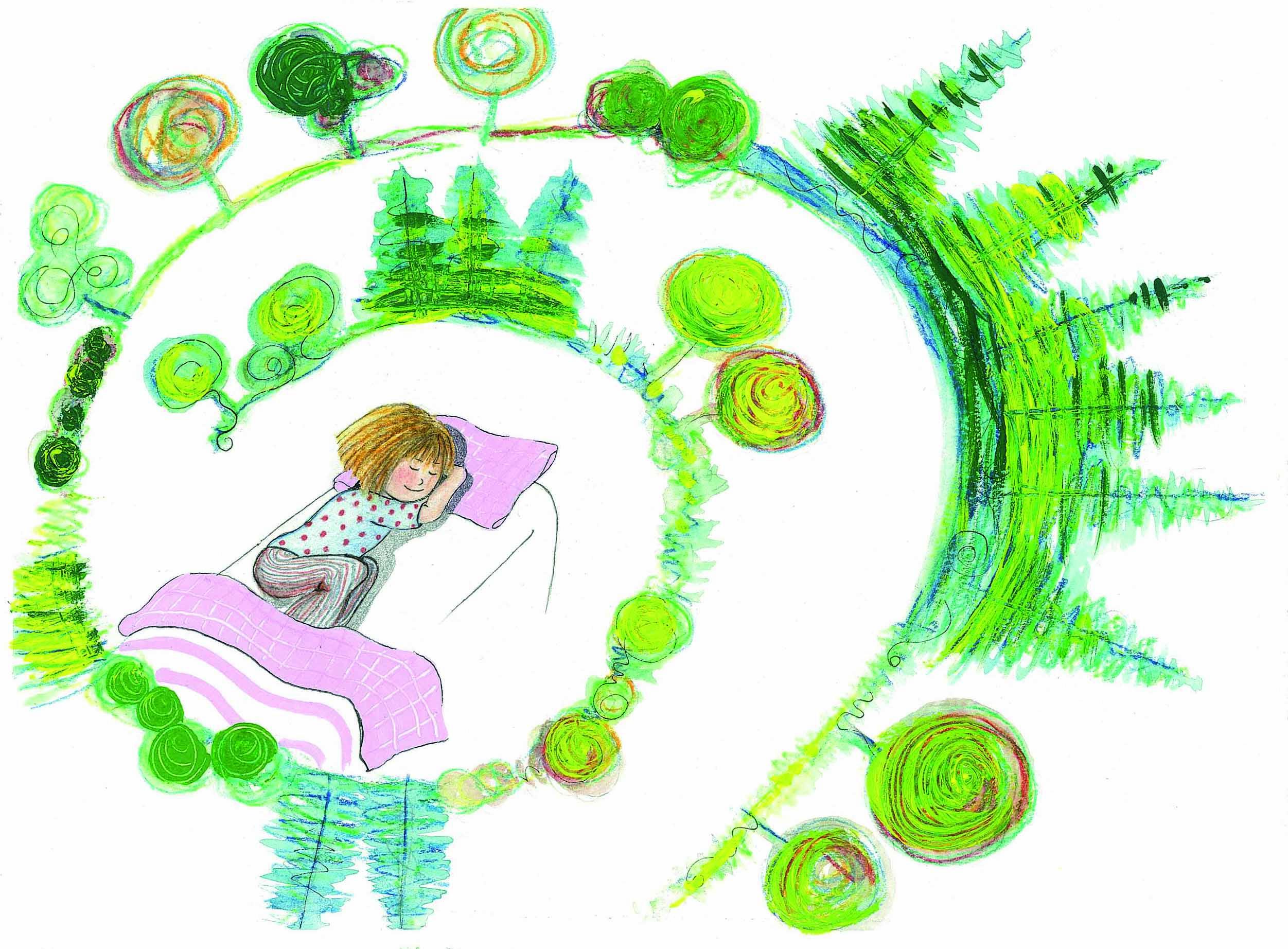 illustrazione, tecnica mista su carta, da Quanti verdi! 2013