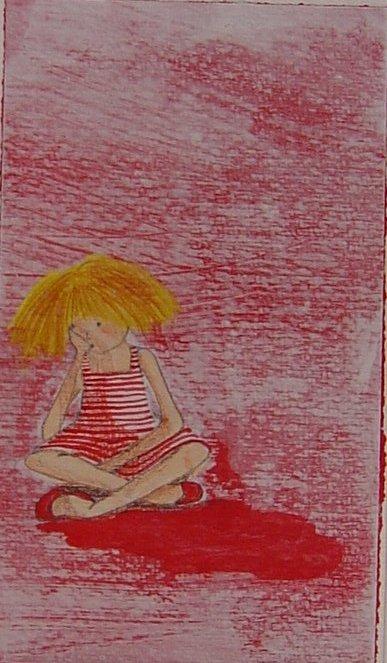 Sst! sto pensando! - illustrazione, tecnica mista su carta - 2008