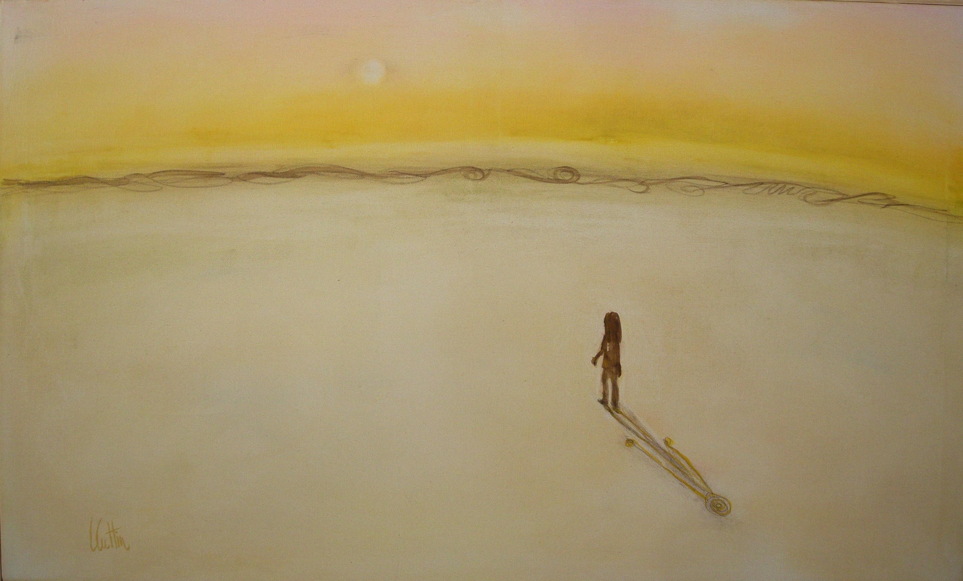 In viaggio. Olio e gessetti su tela 100x60 cm - 2011