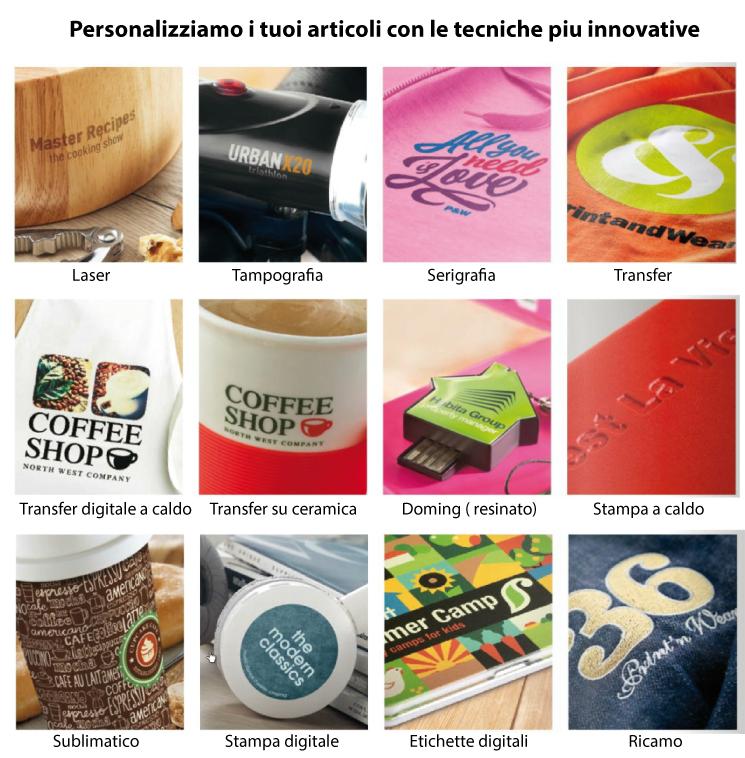 Personalizzazione gadgets