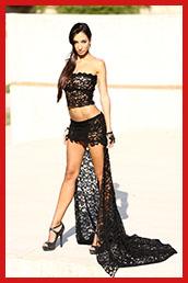 Alessandra Bruno con abiti e trucco di Xenia Cuprianova