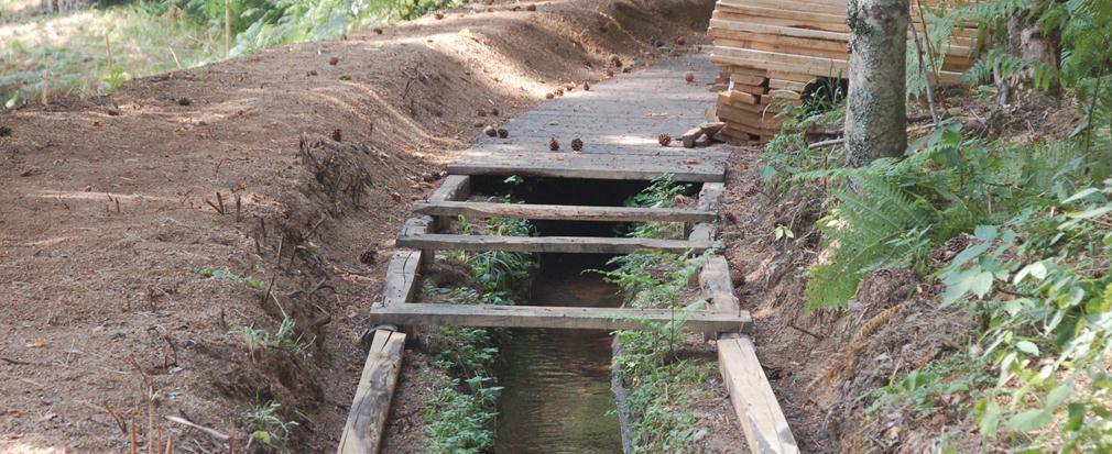 Canalizzazione in legno