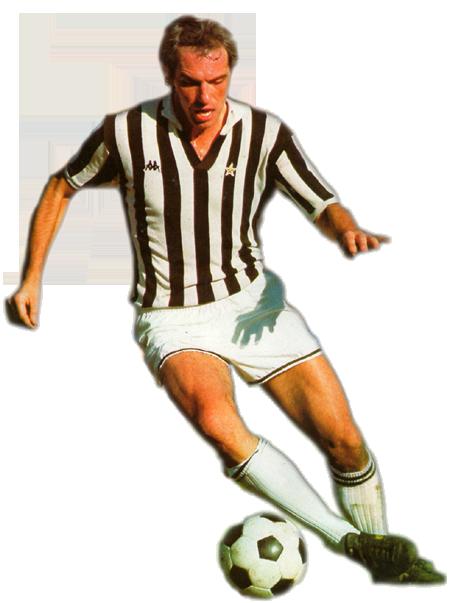 Roberto Bettega con la maglia bianconera 1980/81