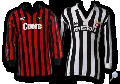 Maglie Milan Juventus 1983/84