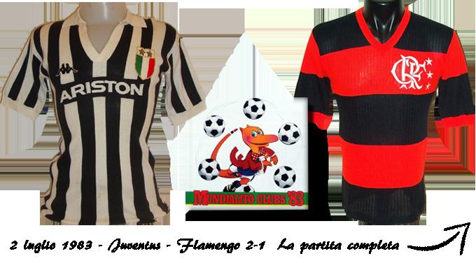 Maglie Juventus e Flamengo 1983