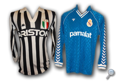 Maglie Juventus Real Madrid 1986/87