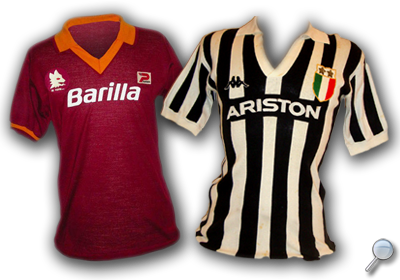 Maglie Roma Juventus 1982/83