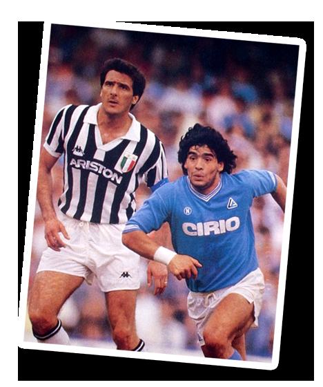 Scirea in marcatura su Maradona