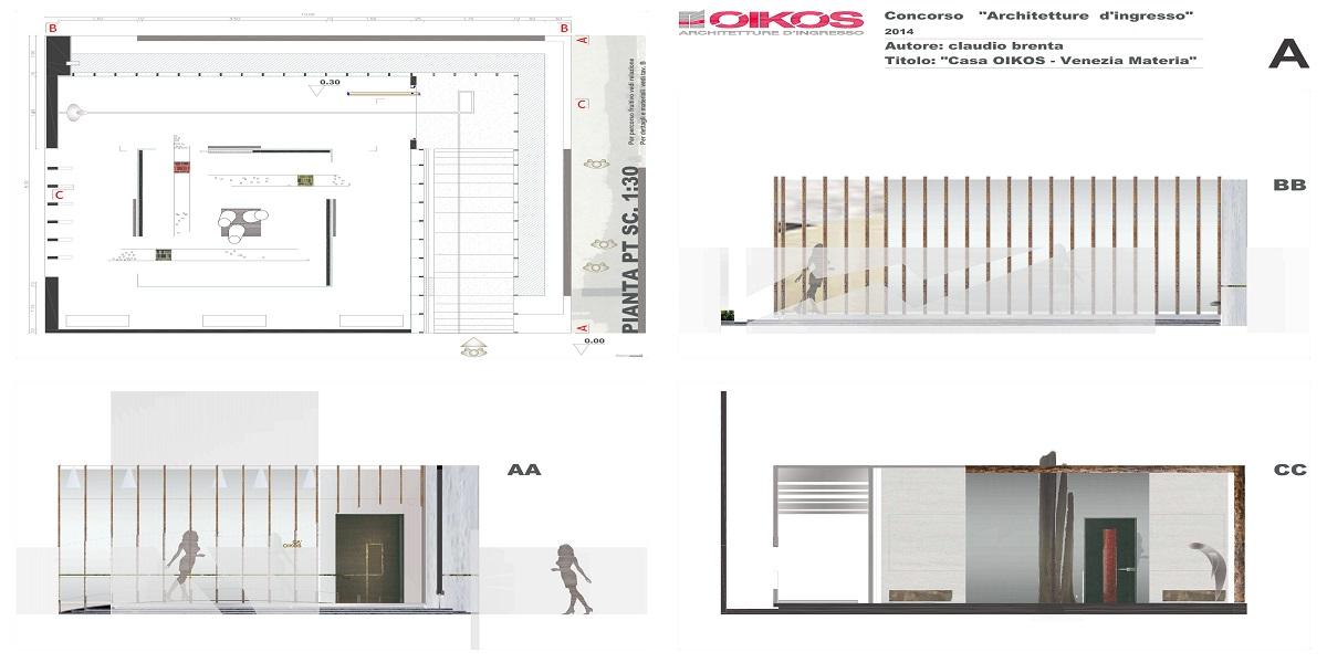 concorso architettura d'ingresso, oikos, claudio brenta, arcchitetto