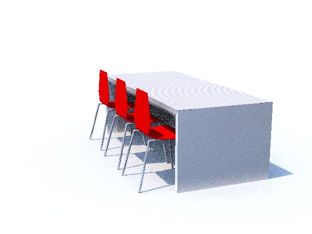 design, claudio brenta, architetto,sketchup, tavolo, render,