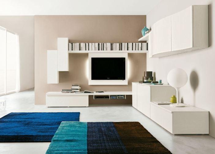 Zona giorno in stile moderno living pareti attrezzate for Arredamenti san michele