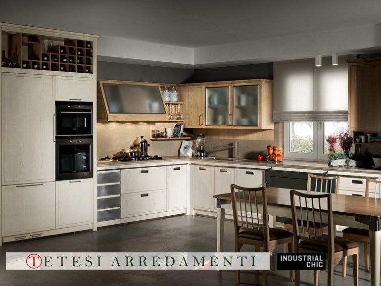 Cucine industrial chic l 39 ottocento tetesi arredamenti for Le chic arredamenti
