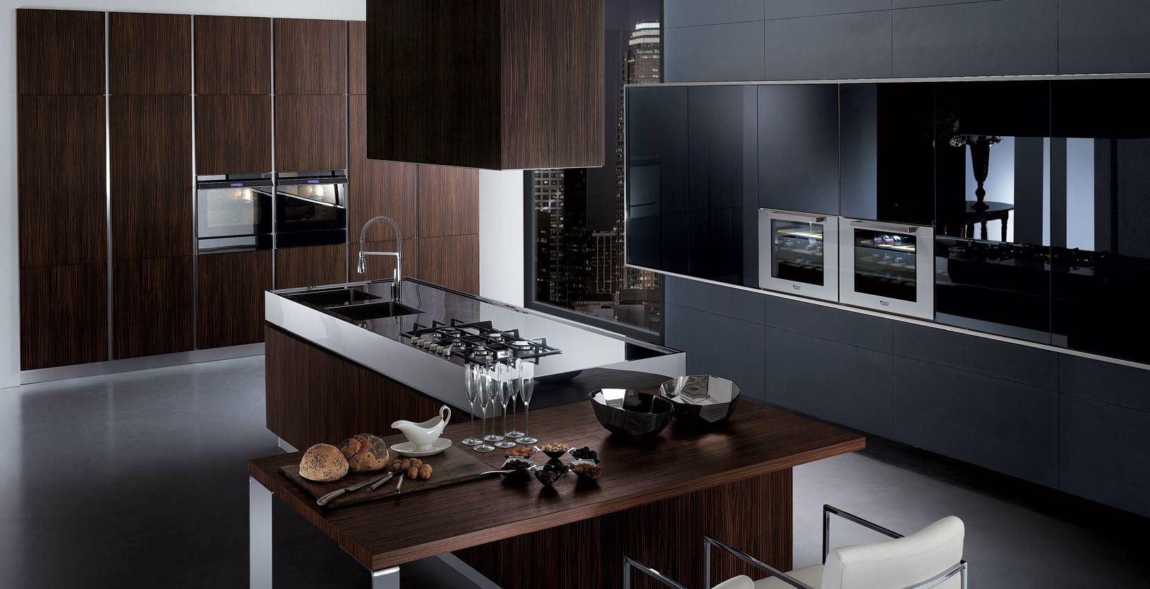 Cucine Moderne Scure ~ Idee Creative su Design Per La Casa e Interni
