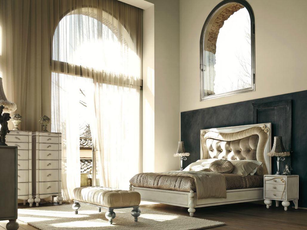 Zona notte in stile classico letti in ferro battuto cantiero piombini dale arte brotto - Camera da letto stile impero ...