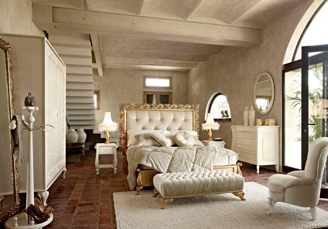 Zona notte in stile classico letti in ferro battuto for Arredamenti san michele
