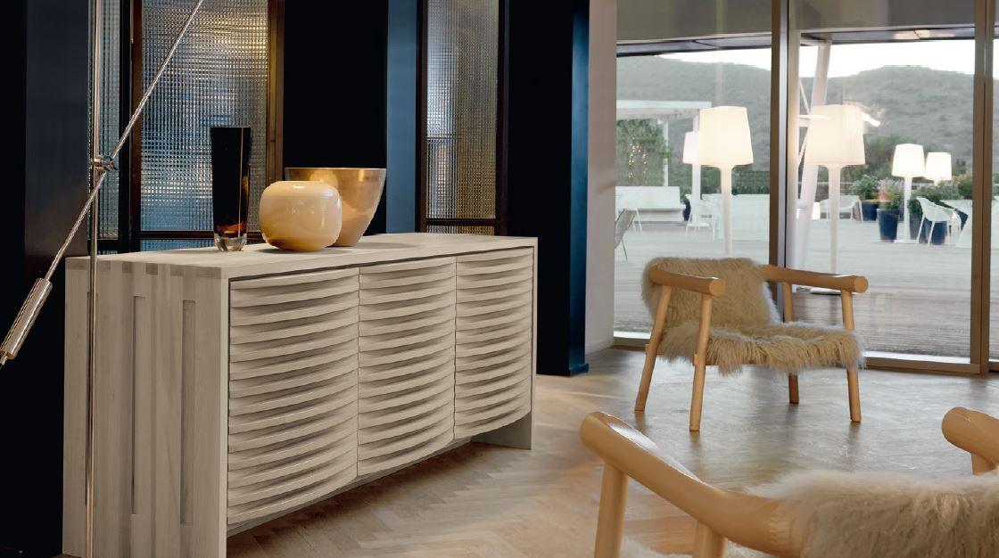 Zona giorno in stile moderno living pareti attrezzate for Contromobile contemporaneo