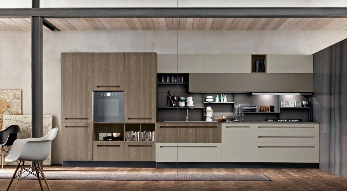 Centro cucine moderne arrex miton cucine moderne stosa - Cucine moderne bicolore ...