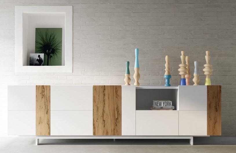 Zona giorno in stile moderno living pareti attrezzate - Madie moderne ikea ...